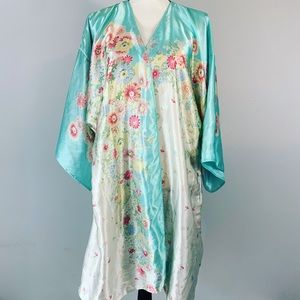 Oscar De La Renta Womens floral Robe size XL
